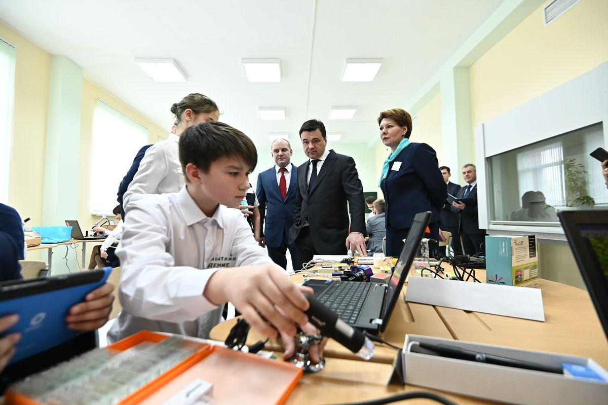 Андрей Воробьев губернатор московской области - Открытие образовательной школы в Ивантеевке