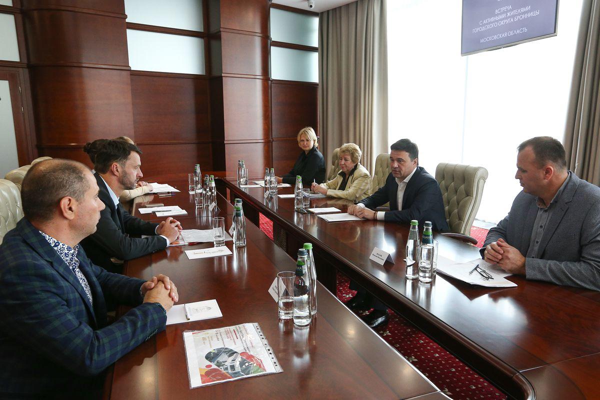 Андрей Воробьев губернатор московской области - Губернатор встретился с жителями Бронниц