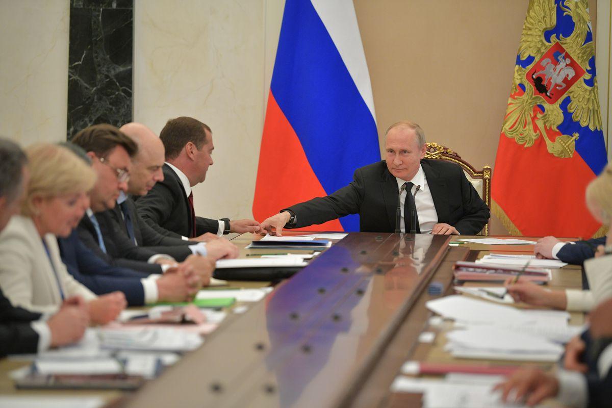 Андрей Воробьев губернатор московской области - Совещание Владимира Путина с членами правительства