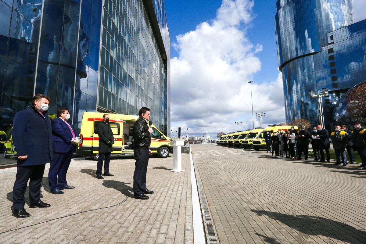 Андрей Воробьев губернатор московской области - Еще быстрее! Скорая помощь Подмосковья получила 16 новых машин