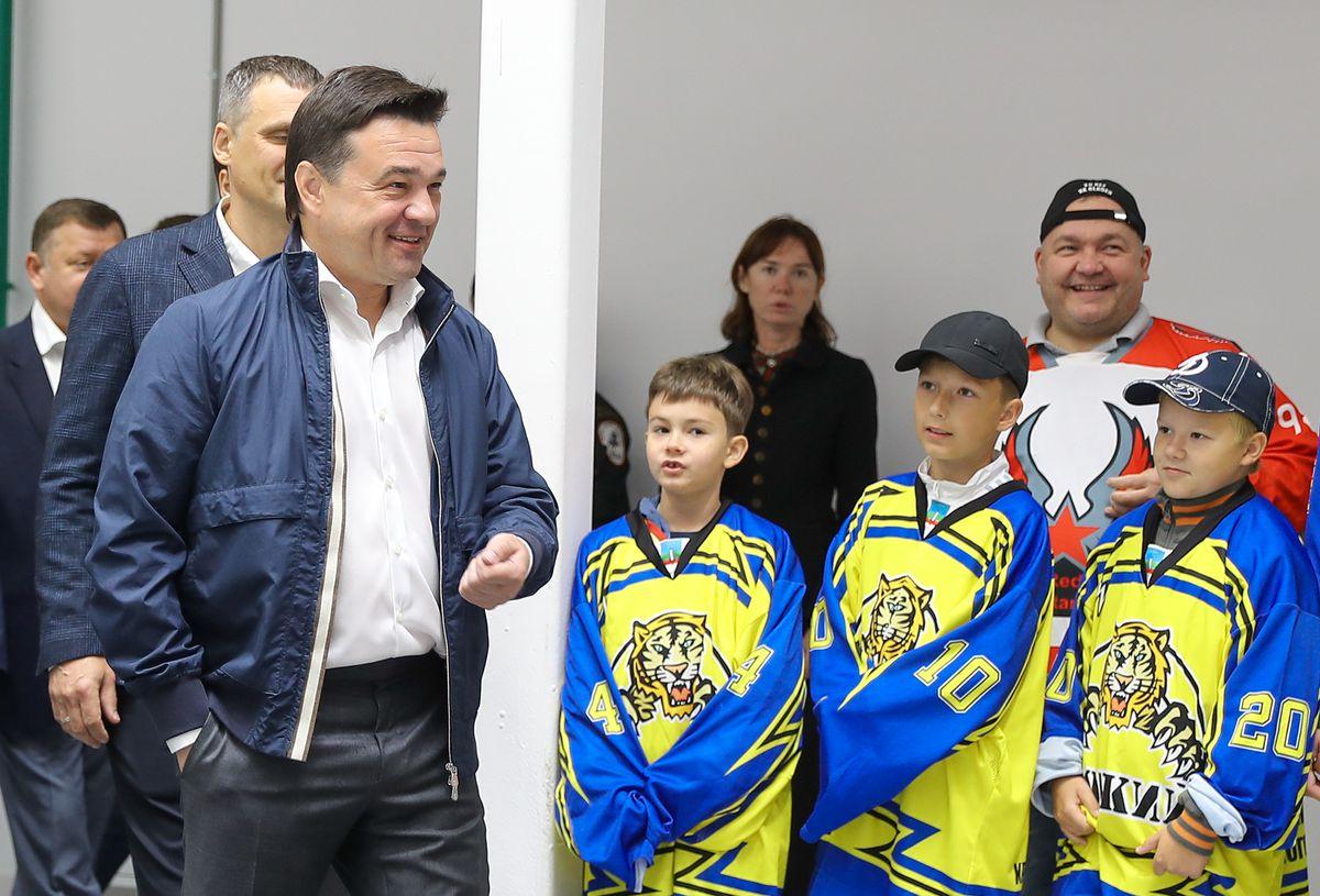 Андрей Воробьев губернатор московской области - В Красногорске откроется новый ледовый дворец