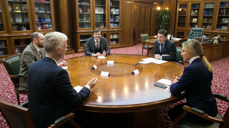 Андрей Воробьев губернатор московской области - Как сохранить рост показателей в образовании. Встреча с Андреасом Шляйхером