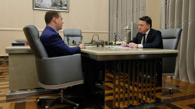 Модернизация Щелковского шоссе, нацпроекты и экономика. Встреча с Дмитрием Медведевым
