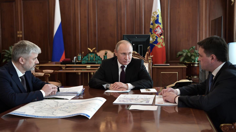 Андрей Воробьев губернатор московской области - Встреча с Президентом. Как развивается транспортная сеть Подмосковья
