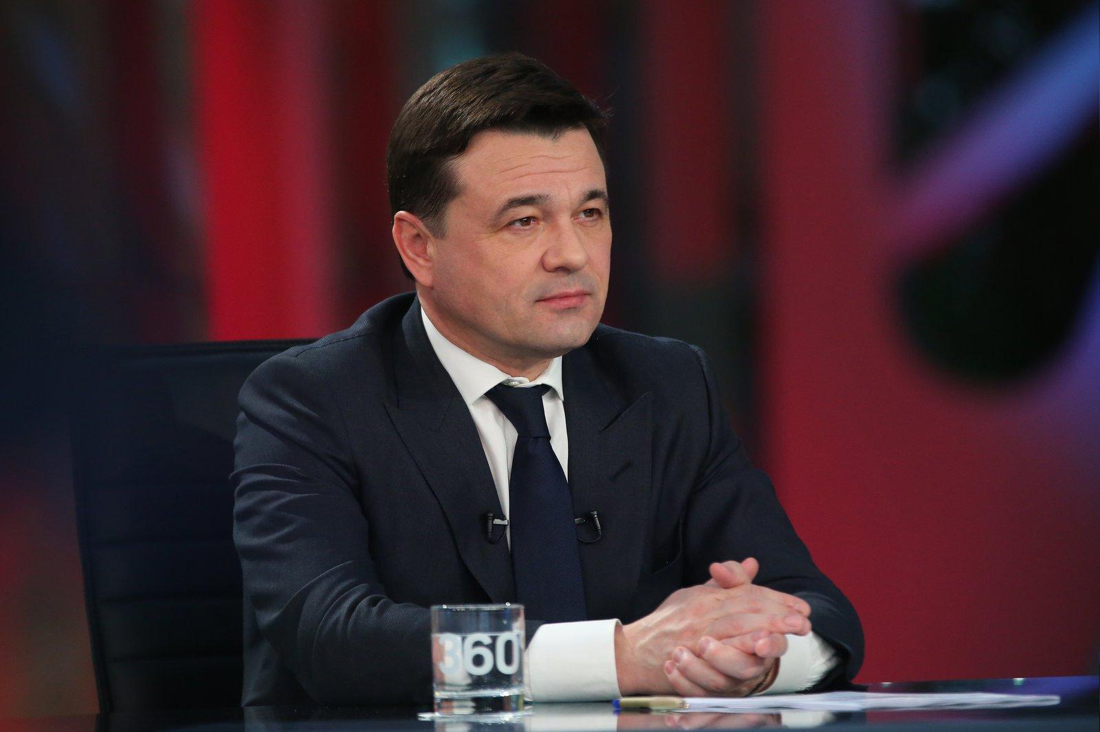 Андрей Воробьев губернатор московской области - Итоги февраля в эфире телеканала «360°»