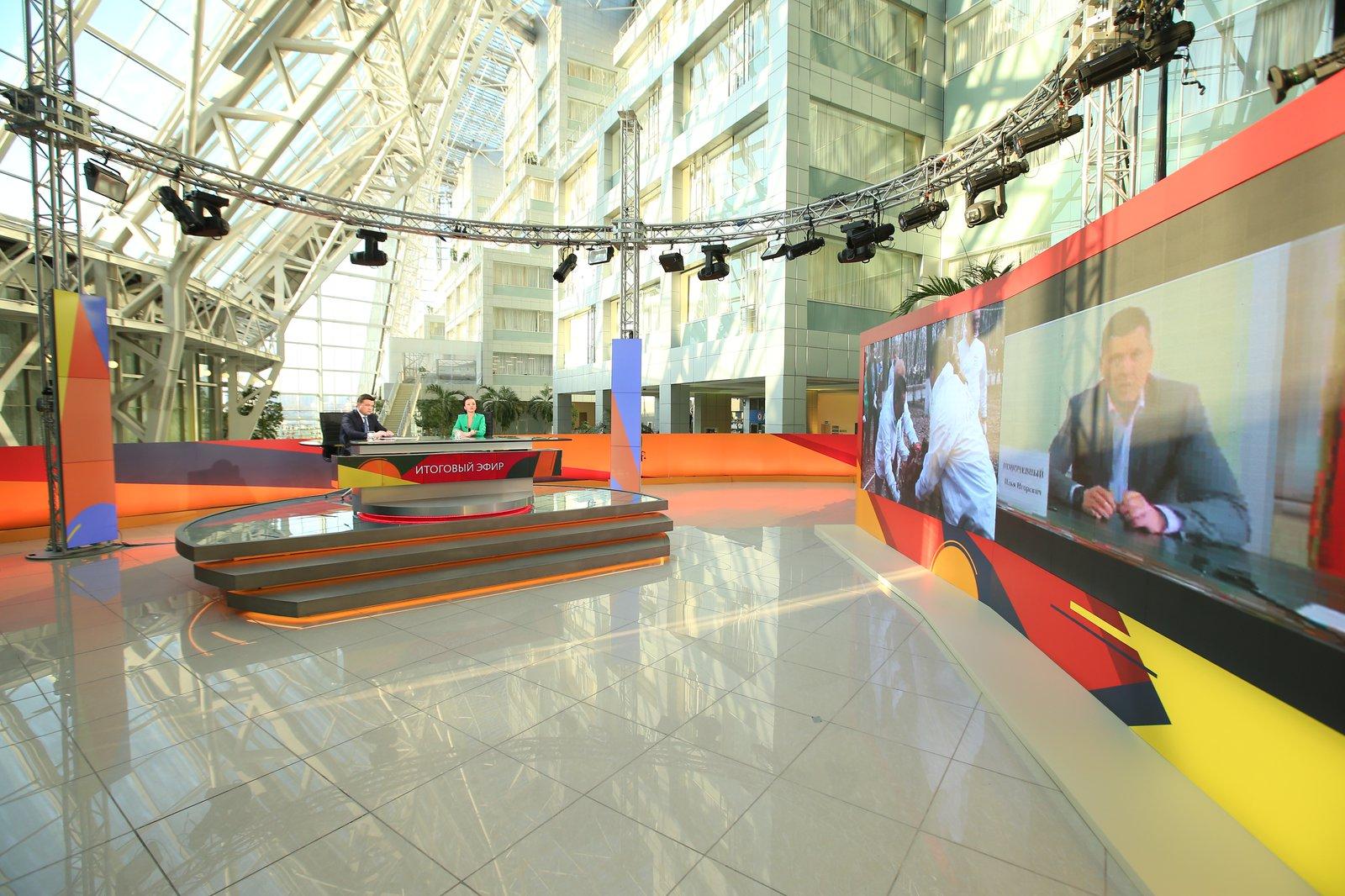 Андрей Воробьев губернатор московской области - Автомобильные заводы, новые путепроводы и школы: подвели итоги апреля в эфире «360°»