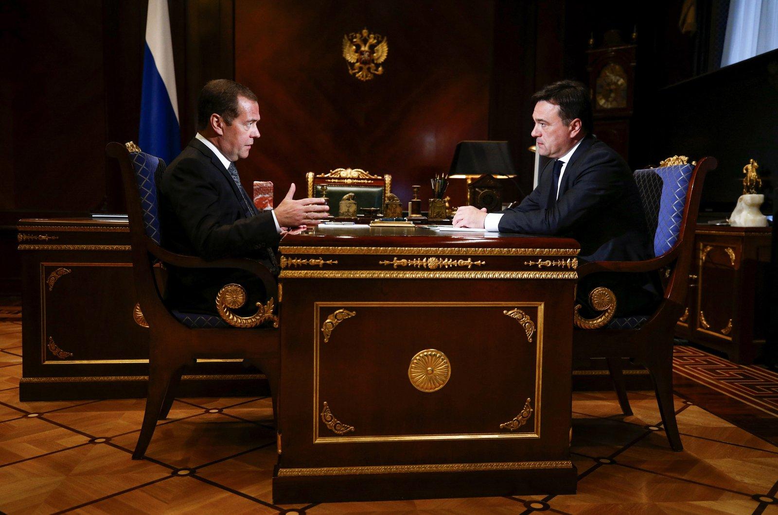 Андрей Воробьев губернатор московской области - Обучать и строить: что обсудили на встрече с Дмитрием Медведевым