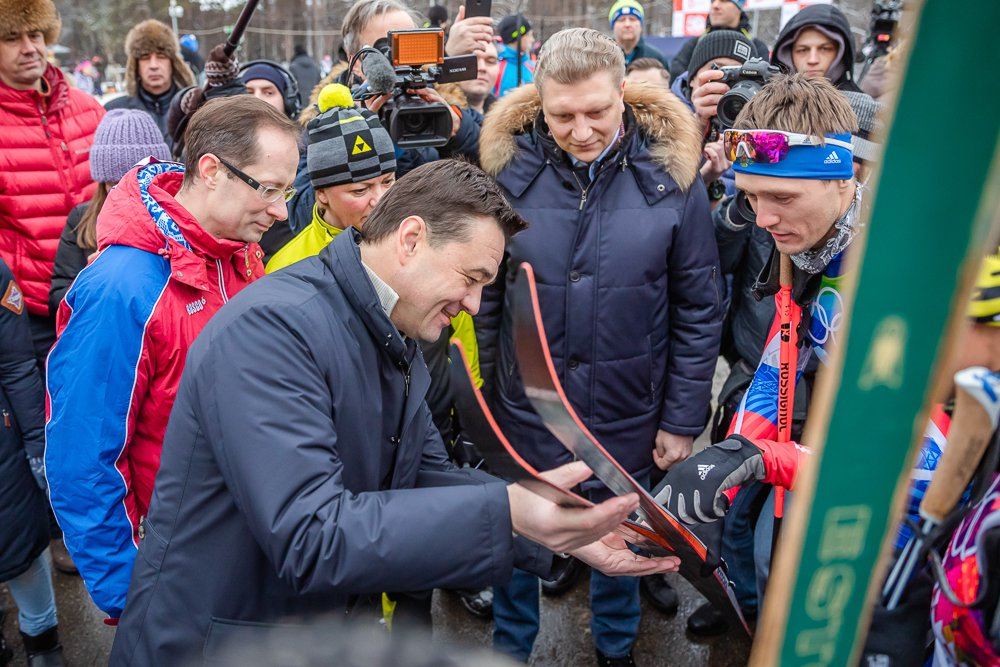Андрей Воробьев губернатор московской области - Манжосовская лыжня — в 50-й раз!