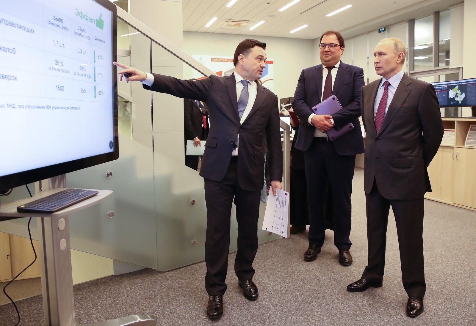 Андрей Воробьев губернатор московской области - Президент в ЦУРе. Как «цифра» помогает решать проблемы жителей Подмосковья