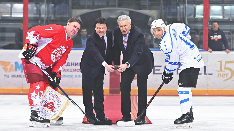 Ответный товарищеский матч «Легенд хоккея» против команды управления и штаба Северного флота «К-21»