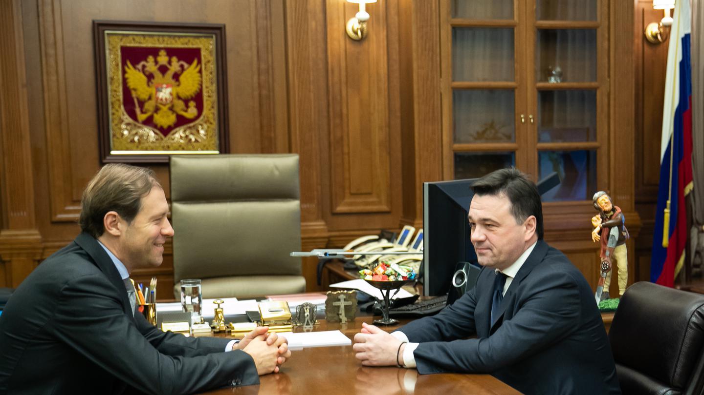 Встреча с министром промышленности и торговли России Денисом Мантуровым