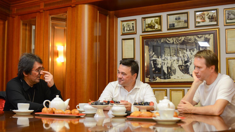 Встреча с Евгением Мироновым и Юрием Башметом в Театре наций